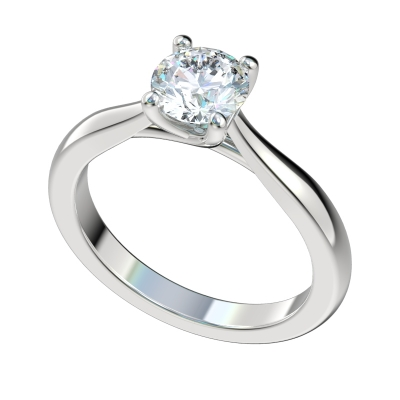 Open Gallery Trellis Solitaire Engagement Ring - Platinum
