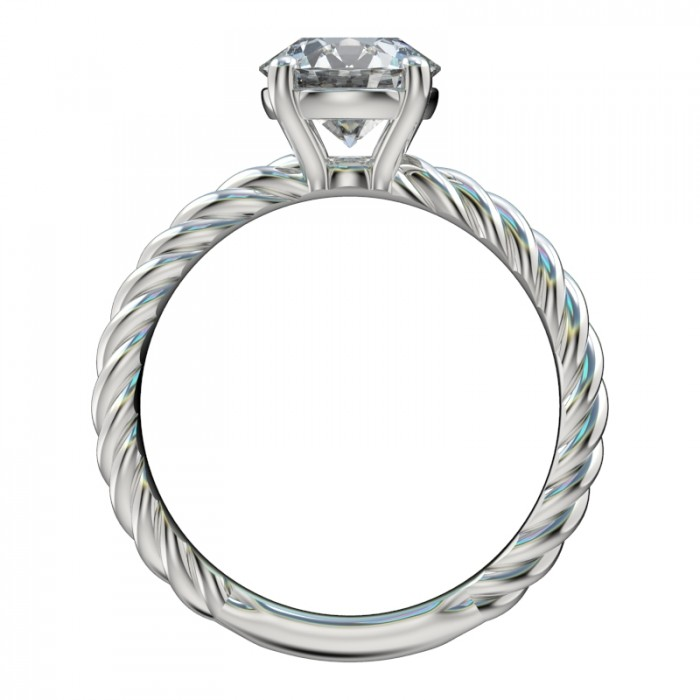 rope shank solitaire engagement ring