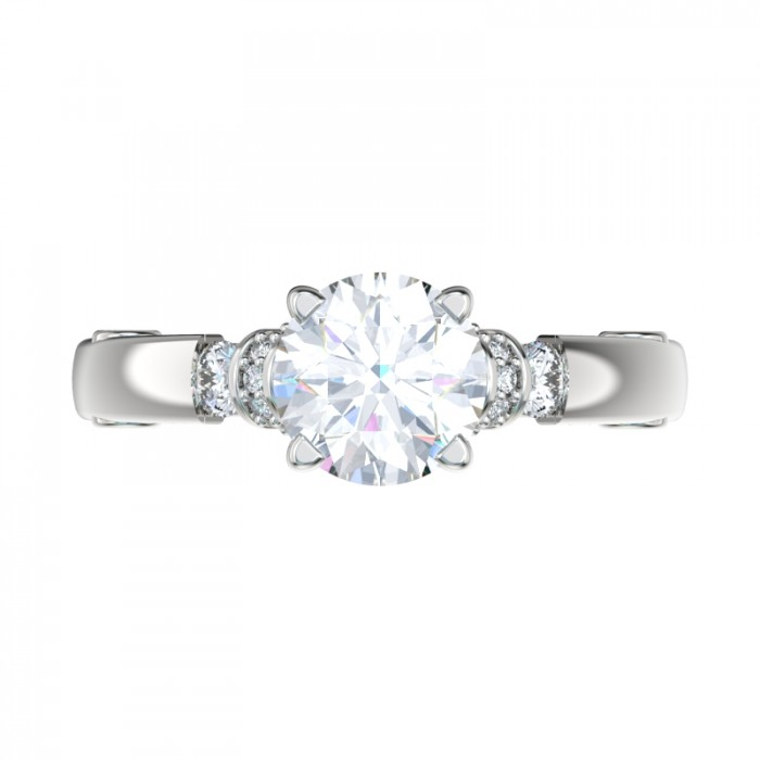 shoulders scroll gallery engagement ring