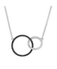 Black and White Diamond Necklace