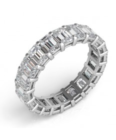 Emerald Cut Diamond Eternity Band - Perspective
