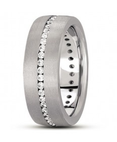Flat Channel Diamond Eternity Ring - Platinum