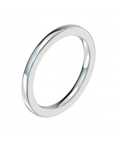 Delicate Half Round Wedding Band - Platinum