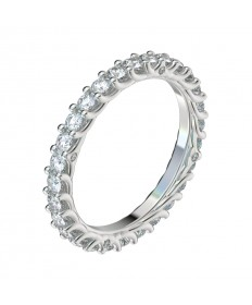 Reverse Trellis Diamond Eternity Band - Platinum