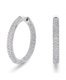 Inside Out Micropave Hoop Earrings