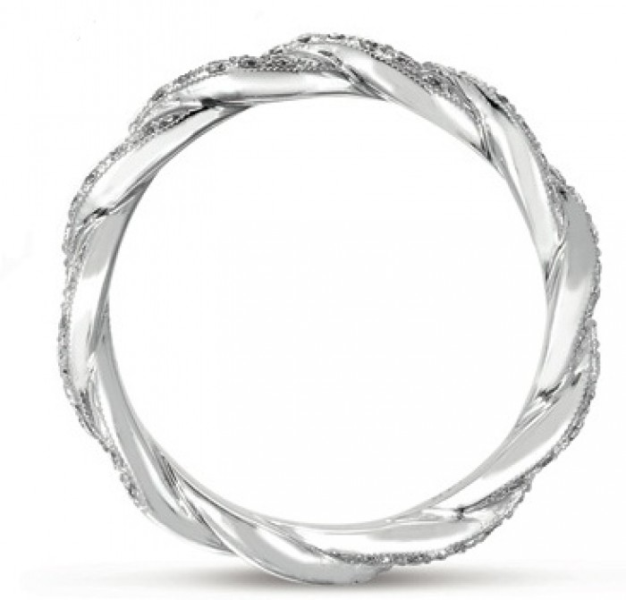 Twist Diamond Eternity Band