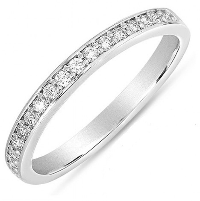 French Pave Diamond Ring