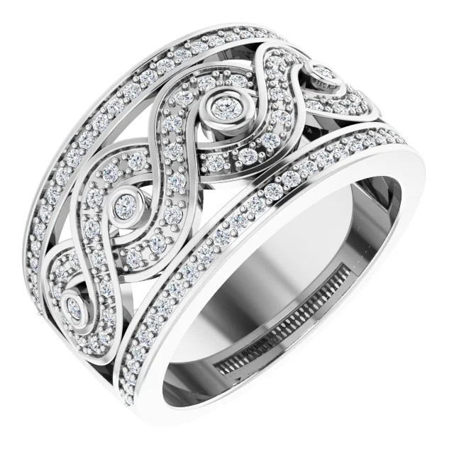 Wide Waves Diamond Band