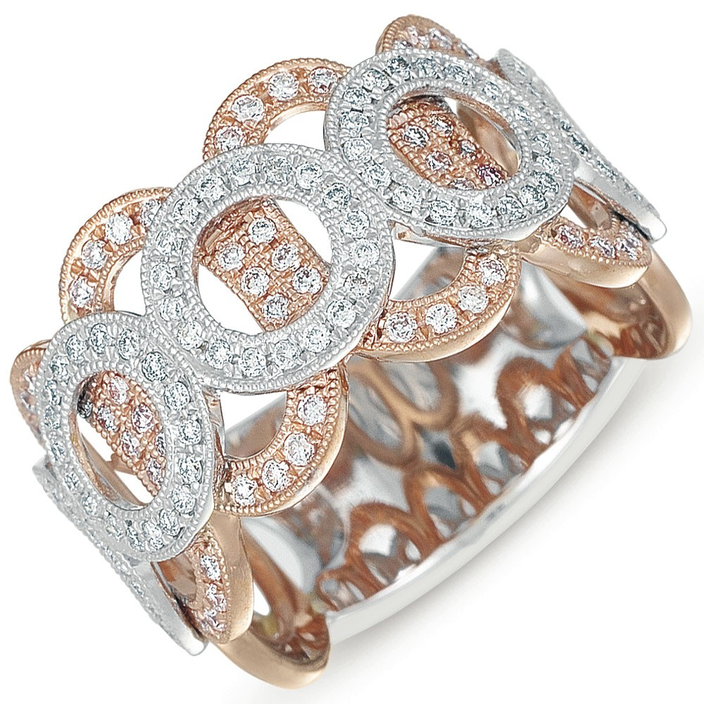 Rose and White Gold Diamond Fashion Ring