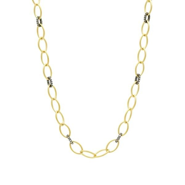 SIGNATURE TWO-TONE LINK NECKLACE