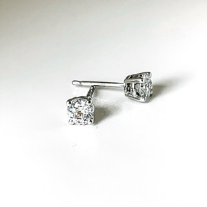 Lab Created Diamond Studs 14kw .46ctw