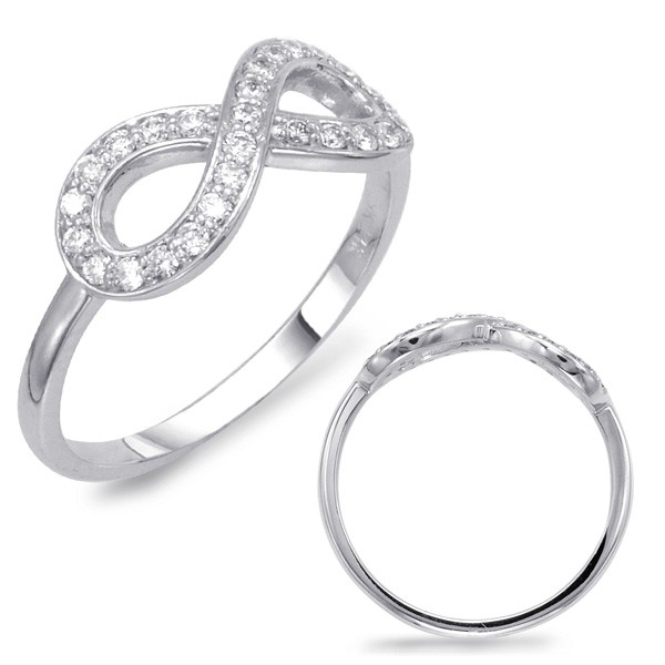 Infinity Diamond Ring - Dual View