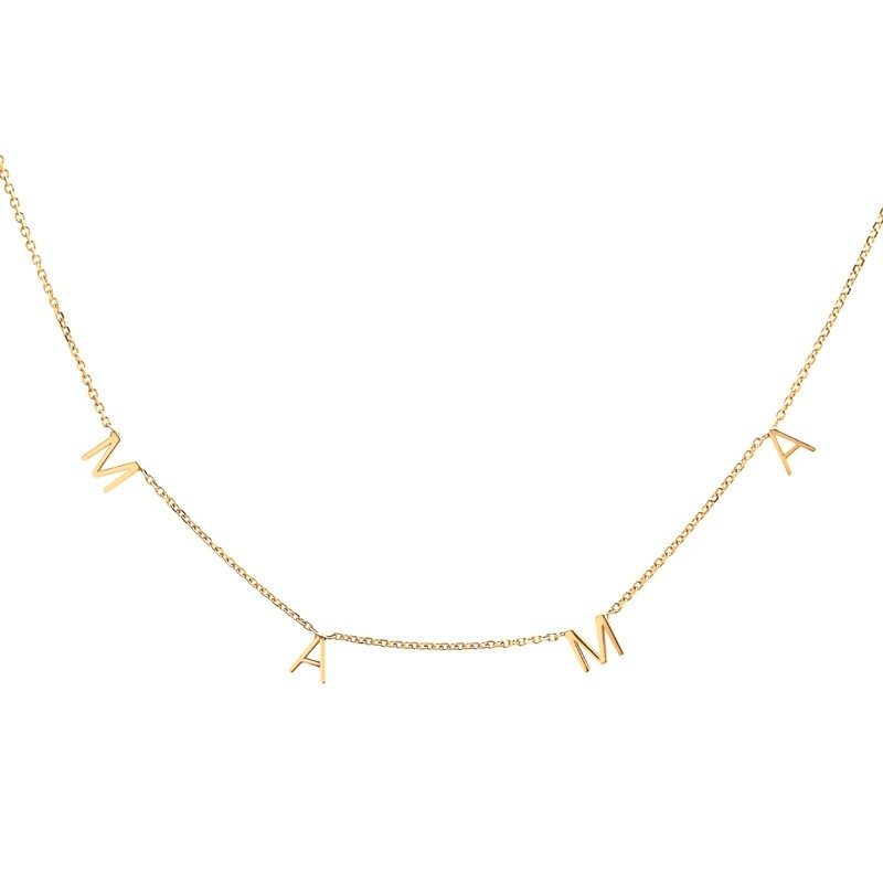MAMA Gold Letters Necklace