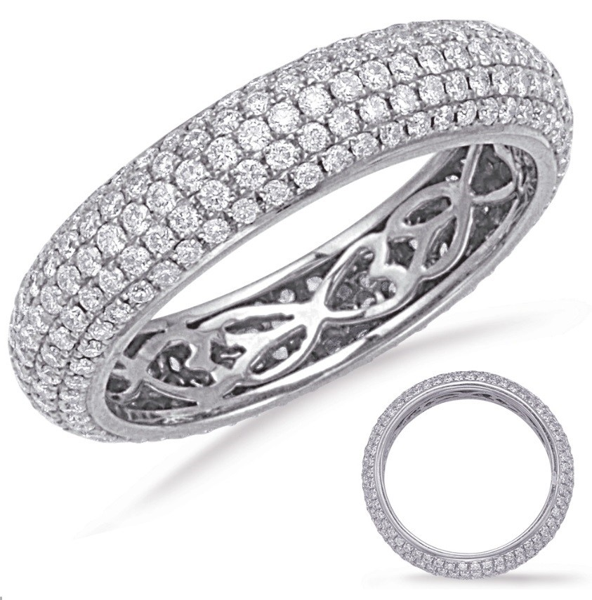 5 Row Micropave Eternity Band - White Gold