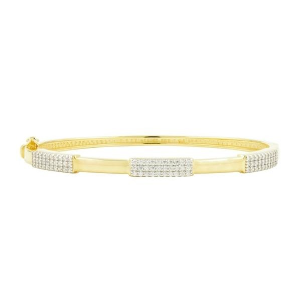RADIANCE THIN HINGE BANGLE IN 14K GOLD