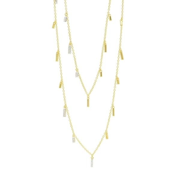 RADIANCE 60 DROPLET STATION NECKLACE IN 14K GOLD