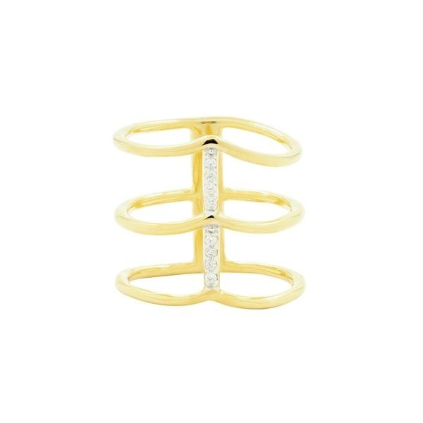 RADIANCE CAGE RING IN 14K GOLD