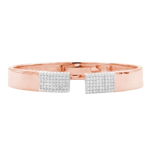 RADIANCE OPEN CUFF BANGLE IN ROSE GOLD