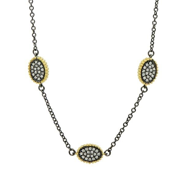 SIGNATURE PAVE OVAL STATION NECKLACE