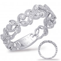 White Gold Vintage Style Band