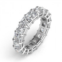 Asscher Cut Diamond Eternity Band - Perspective