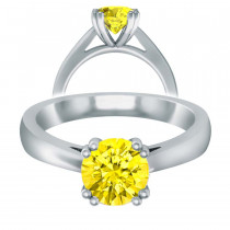 Yellow Sapphire Double Prong Open