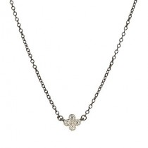 Mini Clover Black Rhodium Necklace