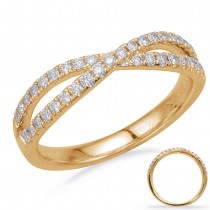 Crisscross Diamond Band