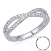 Crisscross Diamond Ring