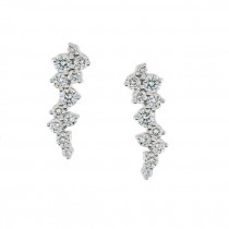 Diamond Cluster Earrings - White, Rose or Yellow