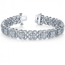 Diamond Floral Tennis Bracelet