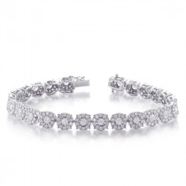 Diamond Halo Tennis Bracelet