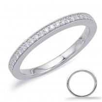 Classic Milgrain Diamond Band