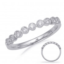 Round Milgrain Diamond Band WG