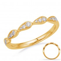 Teardrop Diamond Band YG