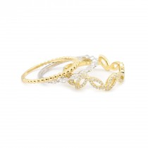 Scattered Leaves Diamond Ring Yellow