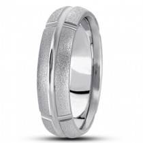 Half Round Cross Sectioned Wedding Ring - 7MM