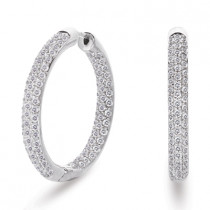 Inside Out Diamond Pave Hoop Earrings