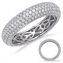 Micropave Diamond Eternity Band
