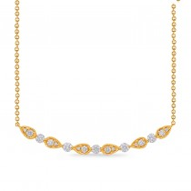 Alternating Teardrops Diamond Necklace