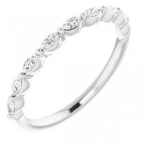 Single Prong Marquise Diamond Band