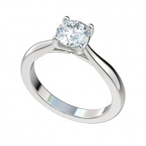 Faux Trellis Cathedral Engagement Ring - Platinum