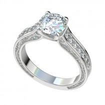 Trellis Vintage Vines Engagement Ring - Platinum