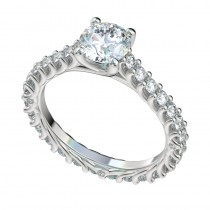 Reverse Trellis Eternity Cathedral Engagement Ring - Platinum