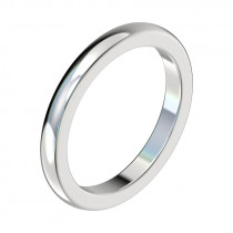 Half Round Wedding Band - Platinum