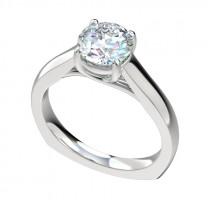 Euroshank Trellis Engagement Ring - Platinum