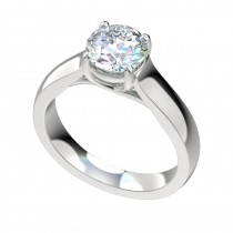 Trellis Cathedral Engagement Ring - Platinum