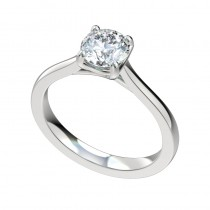 Trellis Swoop Solitaire Engagement Ring - Platinum