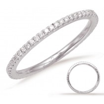 Petite Scalloped Eternity Band