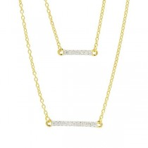 RADIANCE DOUBLE PENDANT NECKLACE IN 14K GOLD